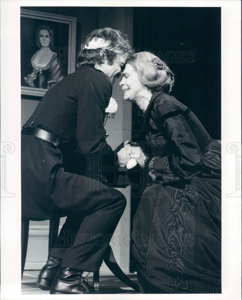 1975 Actors Ben Masters, Rosemary Murphy in Mourning Becomes Electra Press Photo - Historic Images