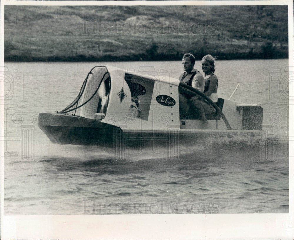 1973 Florida, Air Cycle Boat Press Photo - Historic Images