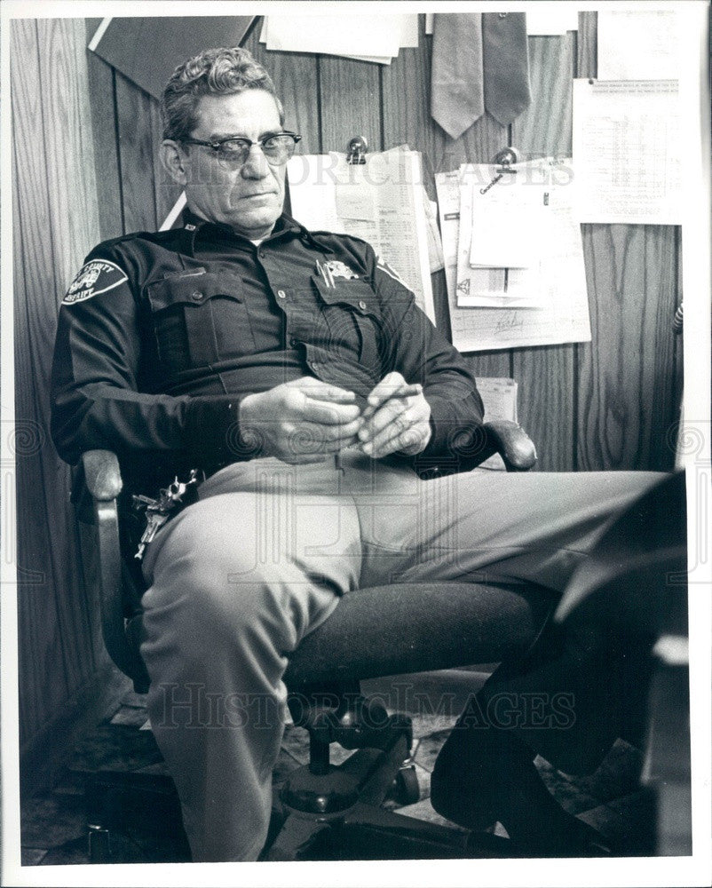 1988 Bent County, Colorado Sheriff Darrell Emrie Press Photo - Historic Images