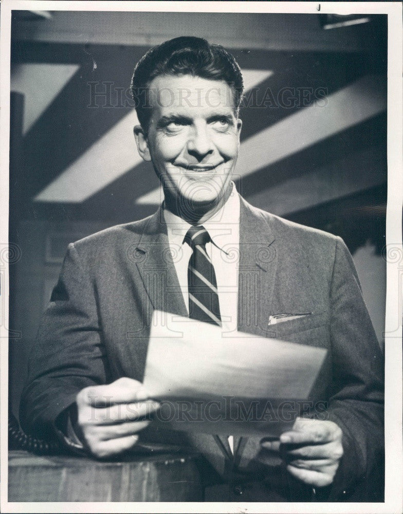 1963 NBC News Anchorman Chet Huntley Press Photo - Historic Images
