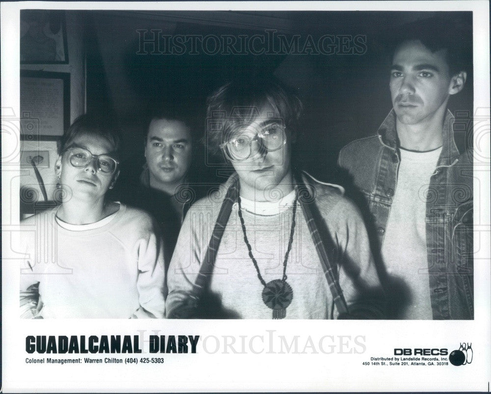Undated Alternative Jangle Pop Music Group Guadalcanal Diary Press Photo - Historic Images