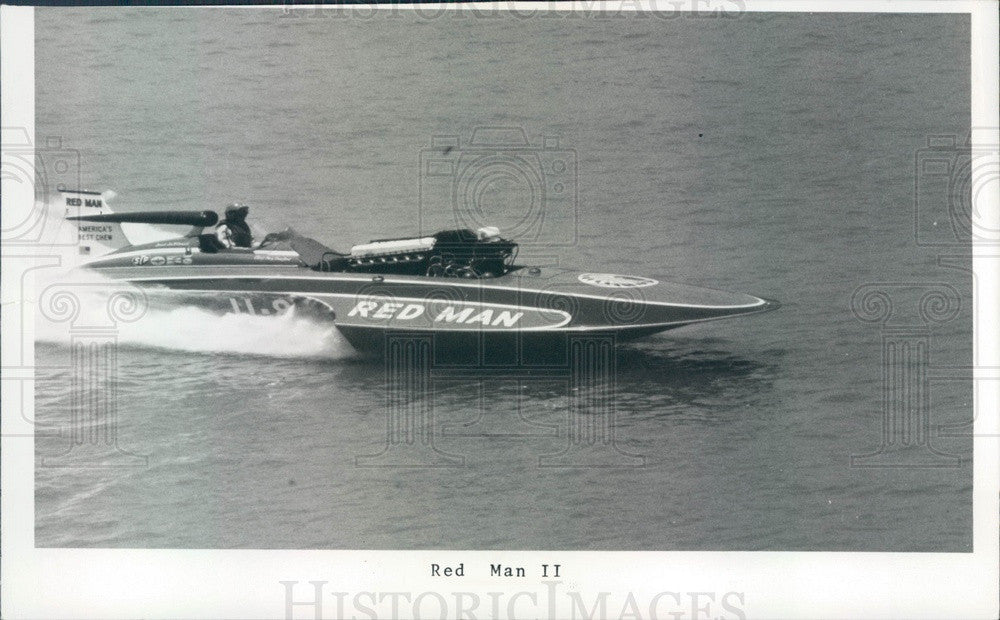 1974 St Petersburg, Florida Hydroplane Boat Red Man II Press Photo - Historic Images