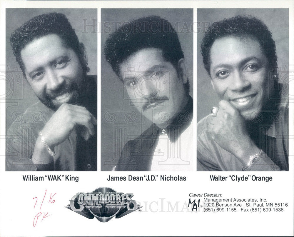 Undated American Funk/Soul Band The Commodores Press Photo - Historic Images