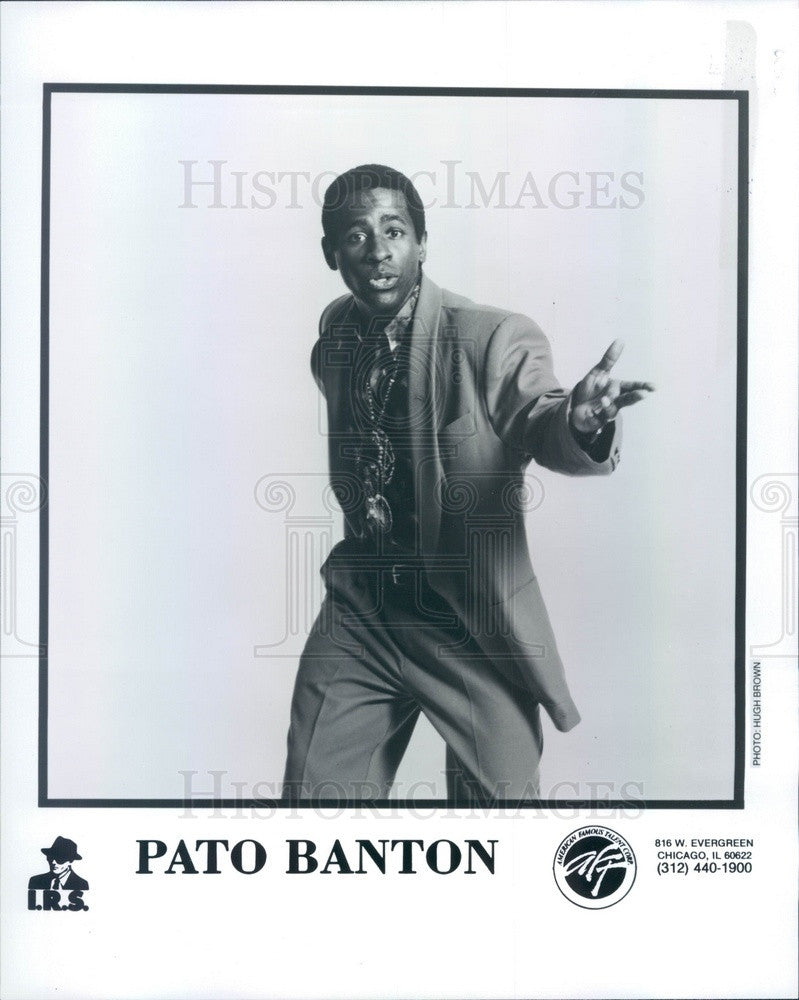 1993 English Reggae Singer Pato Banton Press Photo - Historic Images