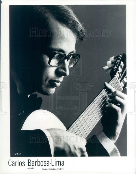 1977 Brazilian Guitarist Carlos Barbosa-Lima Press Photo