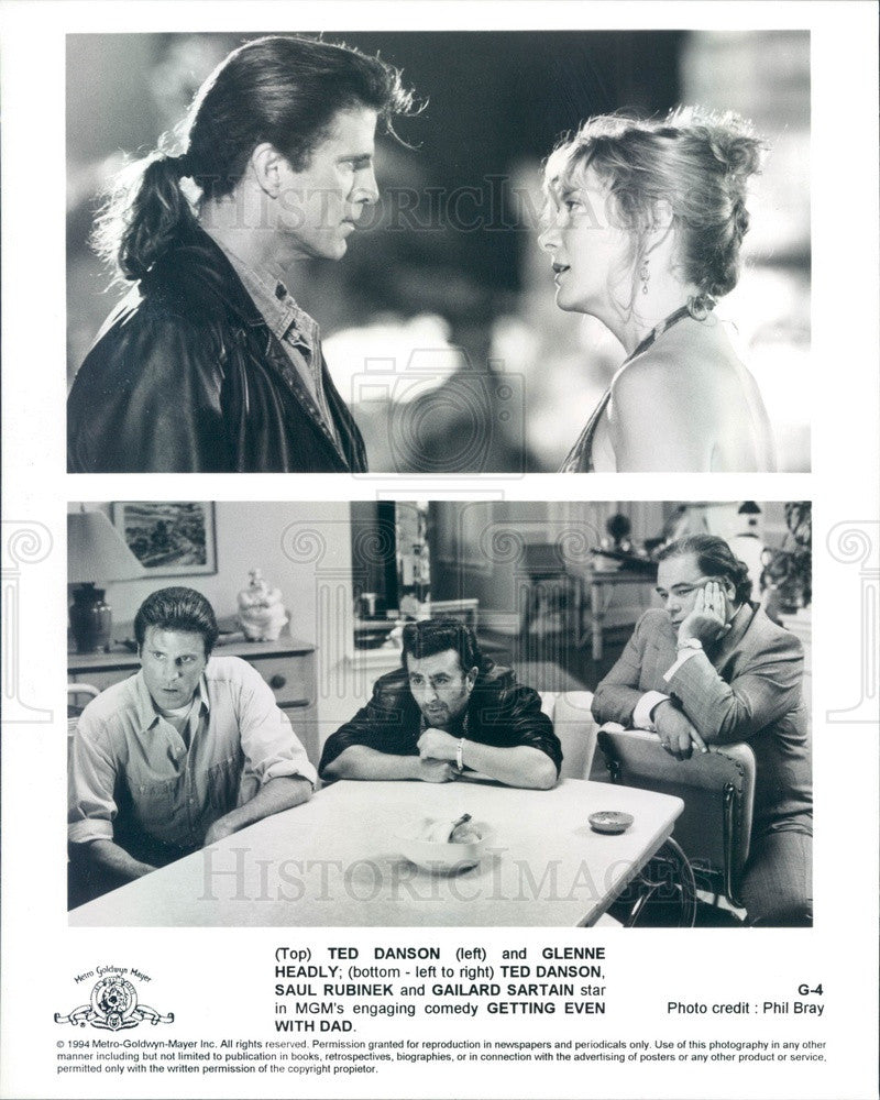 1994 Actors Ted Danson/Glenne Headly/Saul Rubinek/Gailard Sartain Press Photo - Historic Images