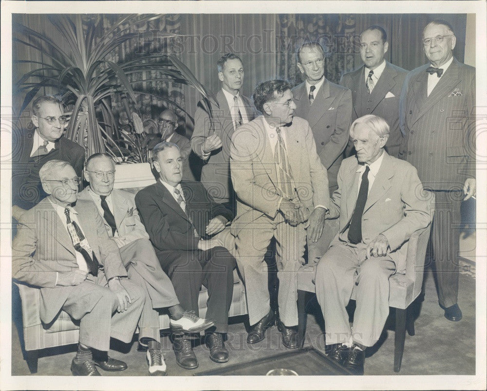 1950 St Petersburg, Florida Chamber of Commerce Former Presidents Press Photo - Historic Images