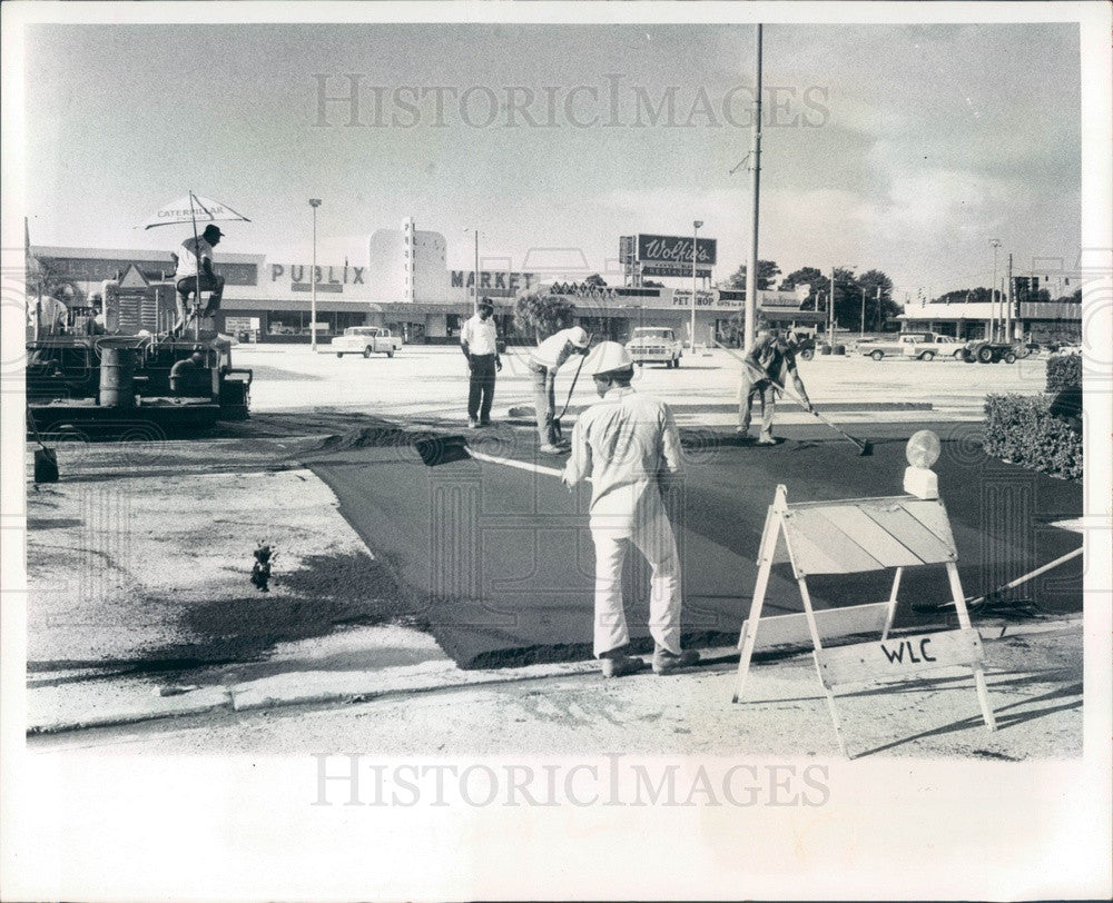 1973 St Petersburg, Florida Central Plaza Shopping Center Press Photo - Historic Images