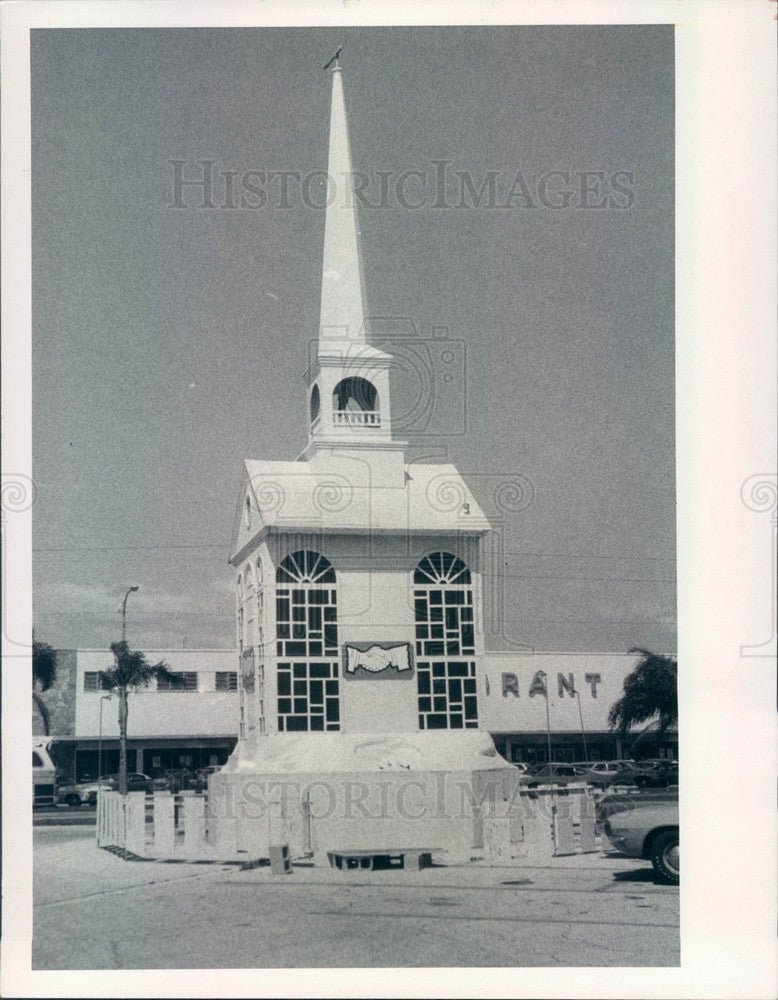 1973 St Petersburg, Florida Central Plaza Christmas Chapel Press Photo - Historic Images
