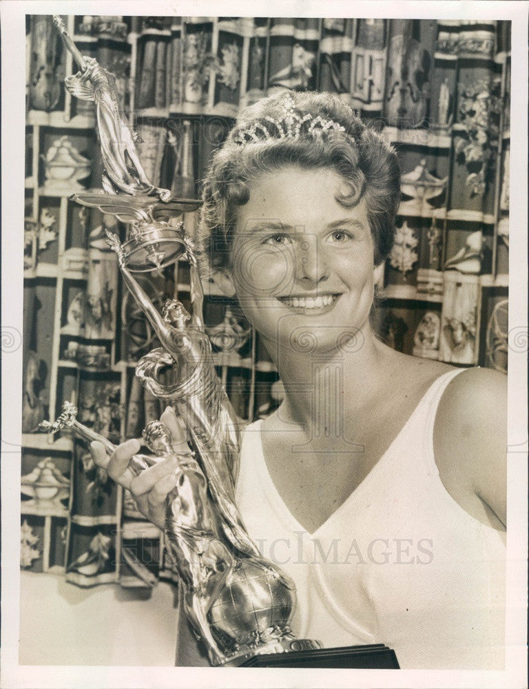 1960 Miss Kenneth City, Florida Grace Ann Amend Press Photo - Historic Images