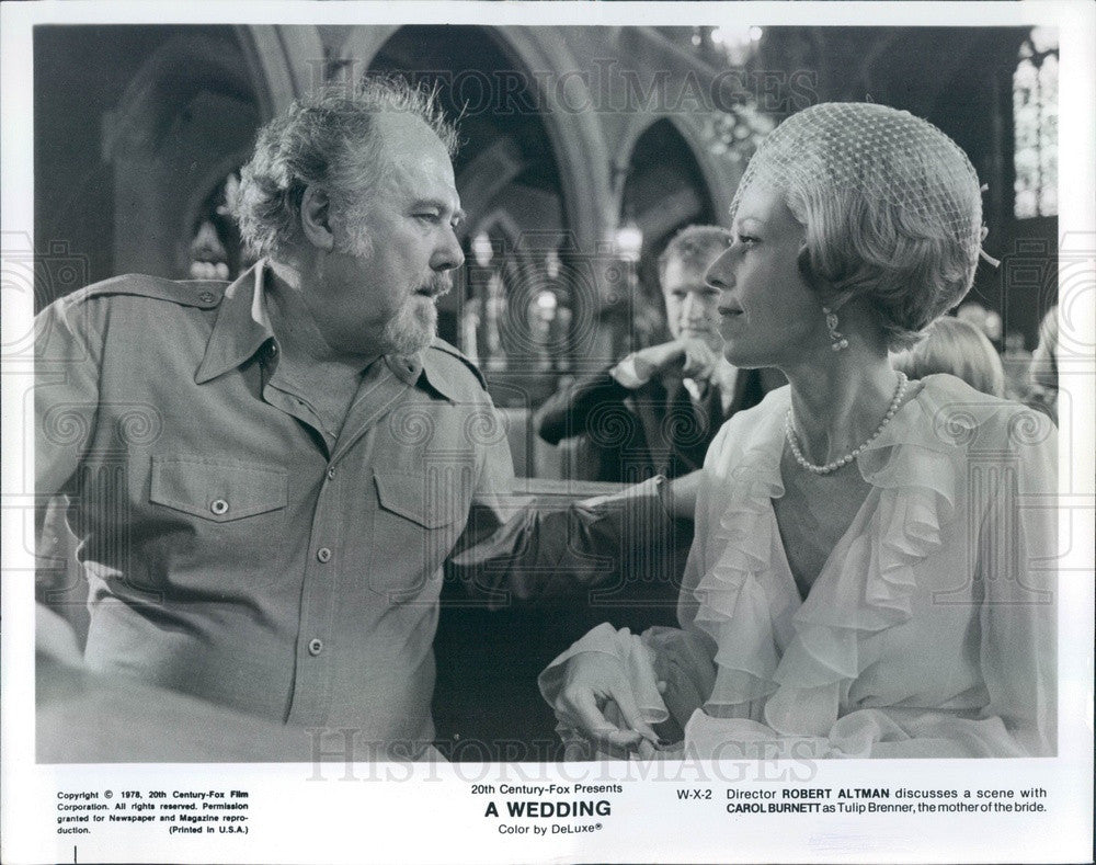 1978 Hollywood Film Director Robert Altman & Actress Carol Burnett Press Photo - Historic Images