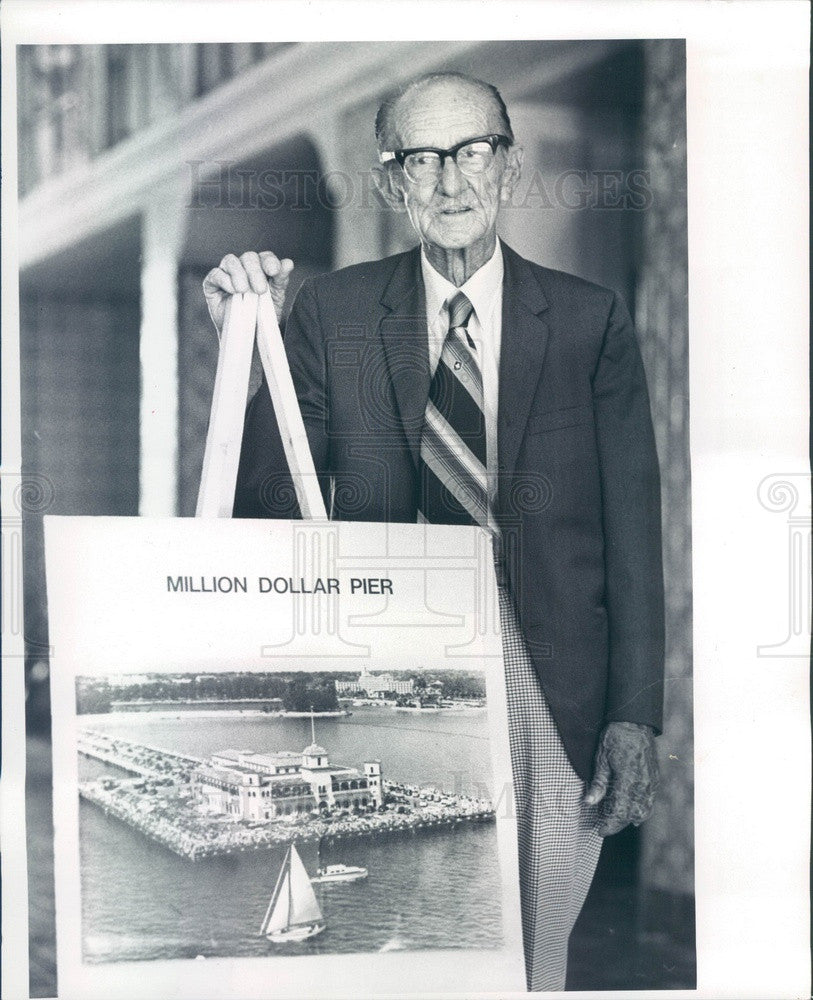 1984 St. Petersburg, Florida Historian Luther Atkins Press Photo - Historic Images