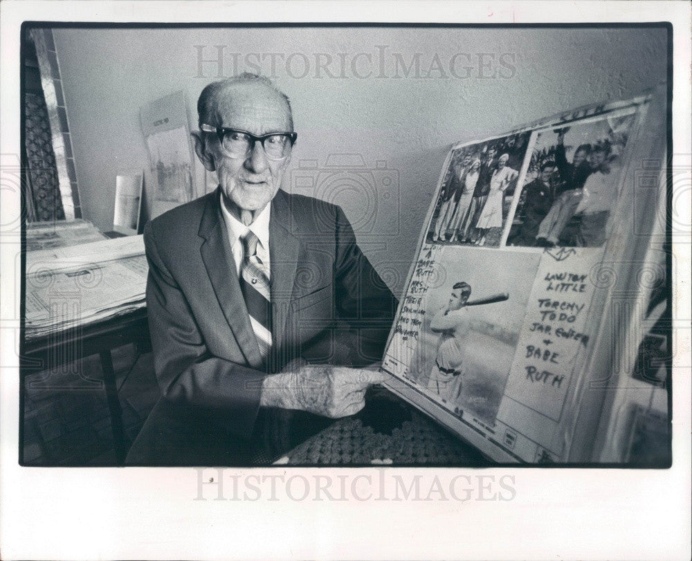 1984 St. Petersburg, Florida Historian Luther Atkins & Scrapbook Press Photo - Historic Images