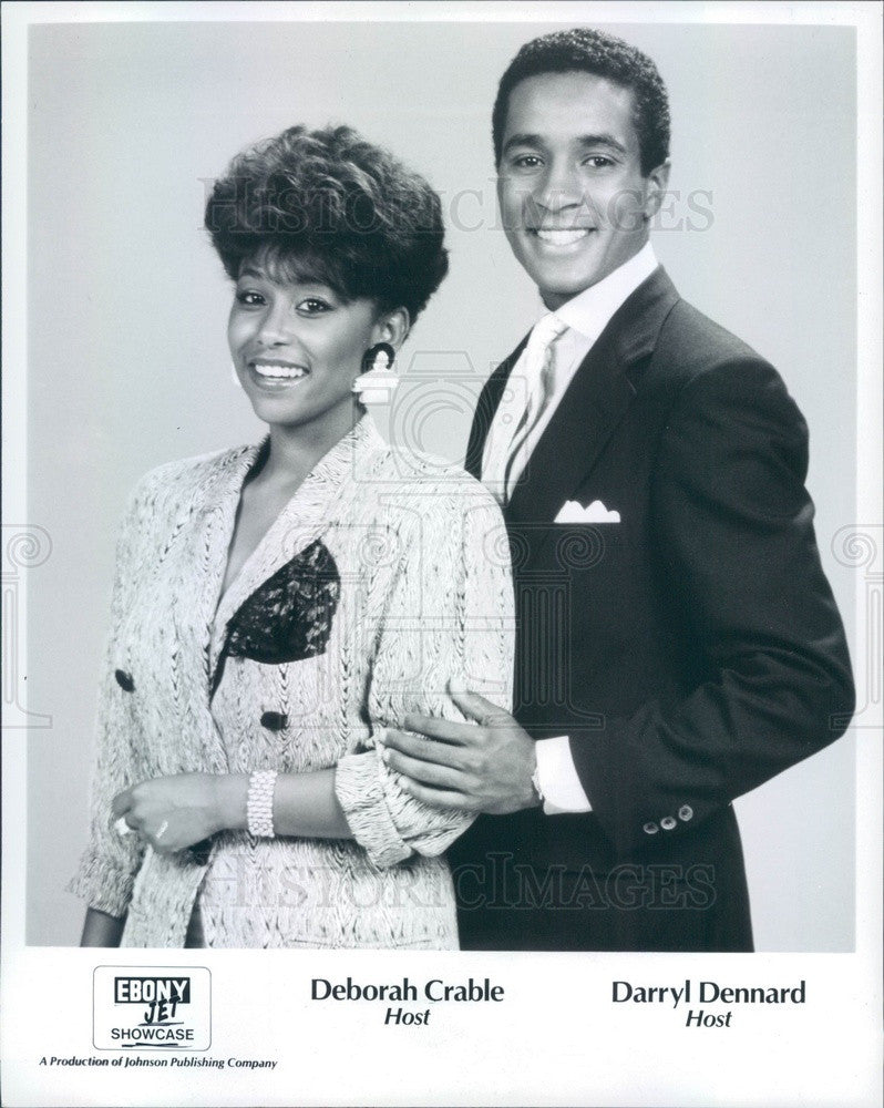 Undated Ebony/Jet TV Hosts Deborah Crable & Darryl Dennard Press Photo - Historic Images
