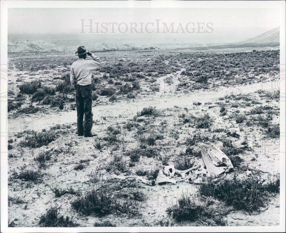 1972 Montrose, Colorado Desolate Farmland in Uncompahgre Valley Press Photo - Historic Images