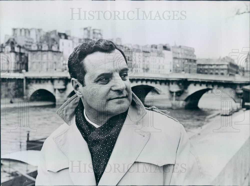 1967 Author Joseph Barry, New York Post Paris Correspondent Press Photo - Historic Images