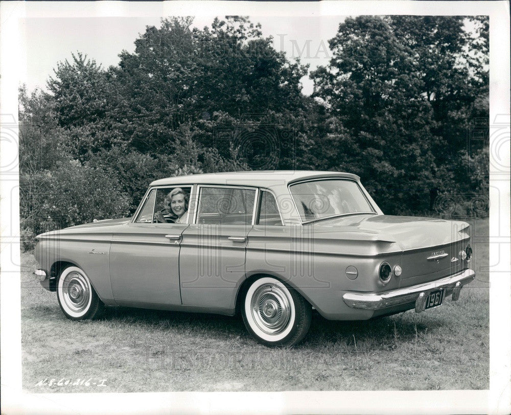1960 American Motors 1961 Rambler Sedan Automobile Press Photo - Historic Images