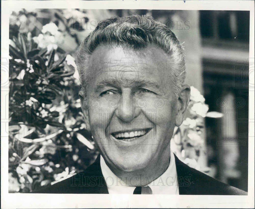1969 Hollywood Actor Ralph Bellamy Press Photo - Historic Images