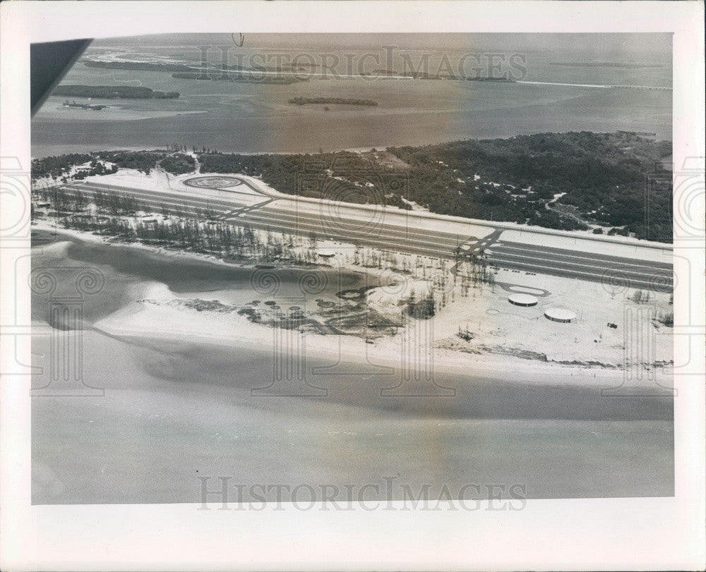 1964 Pinellas County, Florida Fort De Soto Park Aerial View Press Photo - Historic Images