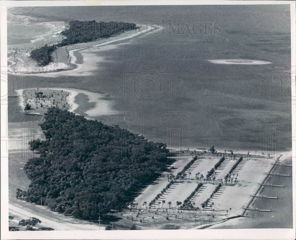 1967 Pinellas County, Florida Fort De Soto Park Aerial View Press Photo - Historic Images