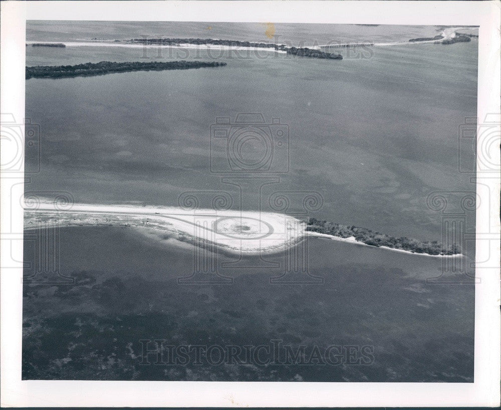 1966 Pinellas County, Florida Fort De Soto Park Aerial View Press Photo - Historic Images