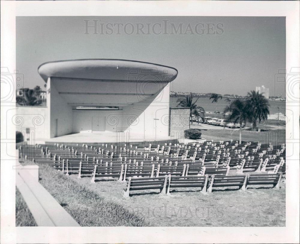 1962 Clearwater, Florida Coachman Park Bandshell Press Photo - Historic Images