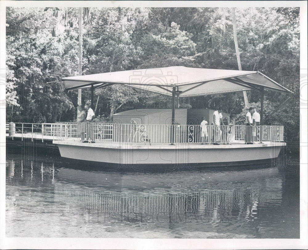 1967 Marco, FL Collier-Seminole State Park Underwater Observatory Press Photo - Historic Images