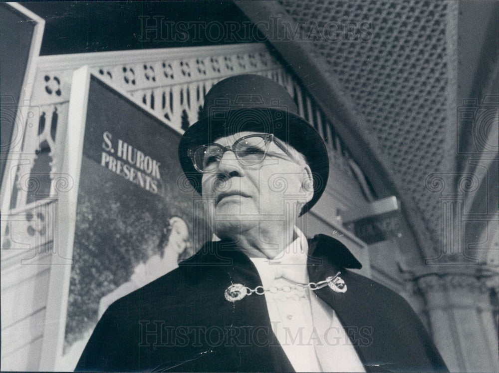 1968 American Impresario Sol Hurok Press Photo - Historic Images