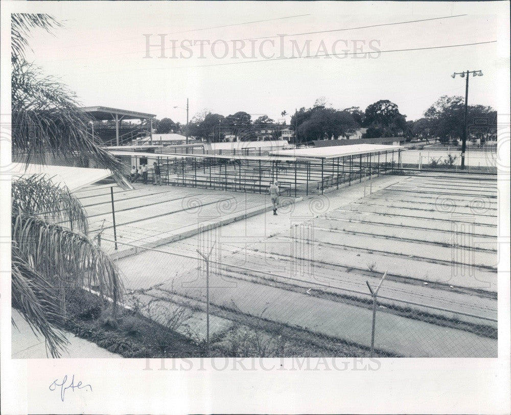 1980 St Petersburg, Florida Bartlett Park Shuffleboard Courts Press Photo - Historic Images