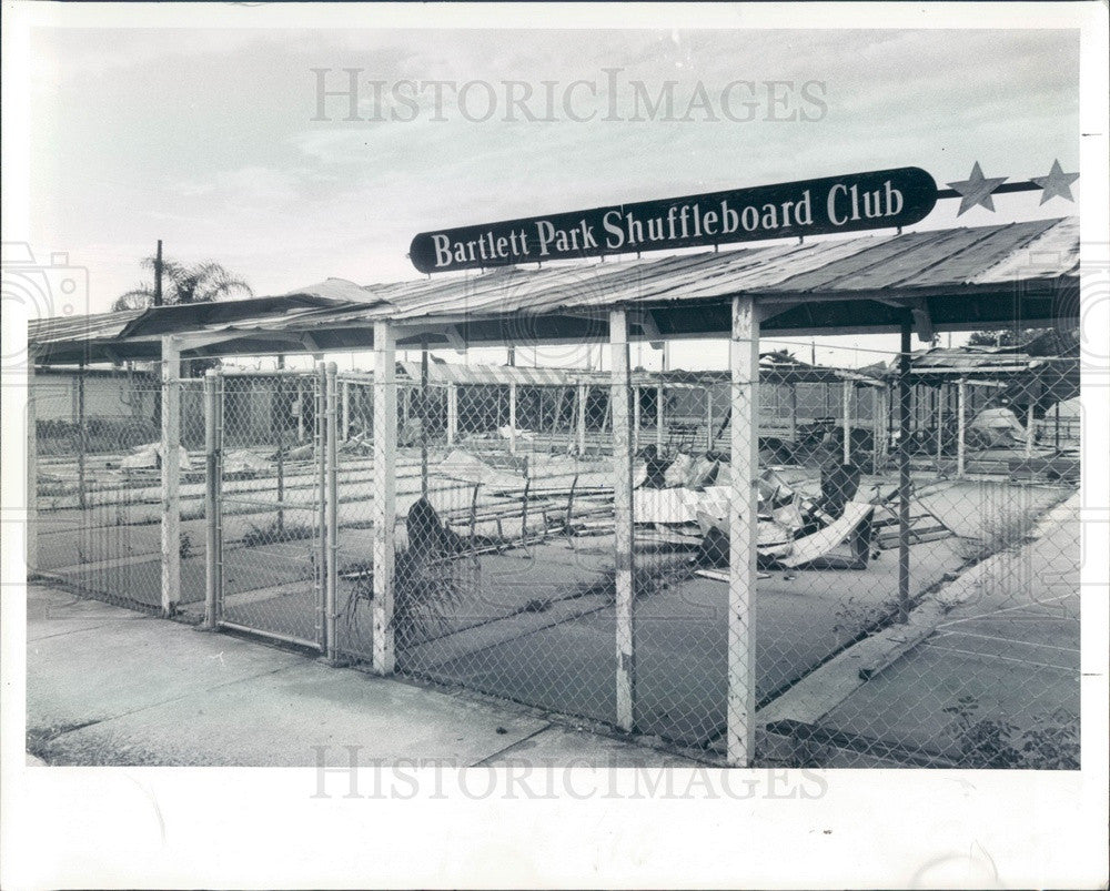 1979 St Petersburg, Florida Bartlett Park Windstorm Damage Press Photo - Historic Images