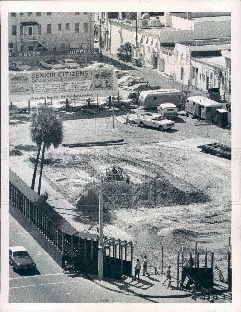 1972 St Petersburg, Florida Rutland Central Bank Construction Press Photo - Historic Images