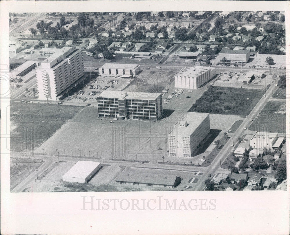 1967 St Petersburg, FL Aerial View, 3rd & 5th Ave N, 31st & 33rd St Press Photo - Historic Images
