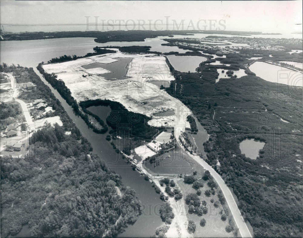1983 St Petersburg, Florida Aerial View, Caya Costa, Riviera Bay Press Photo - Historic Images