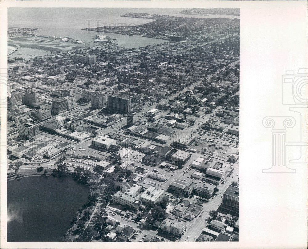 1968 St Petersburg, Florida Aerial View, Downtown Press Photo - Historic Images