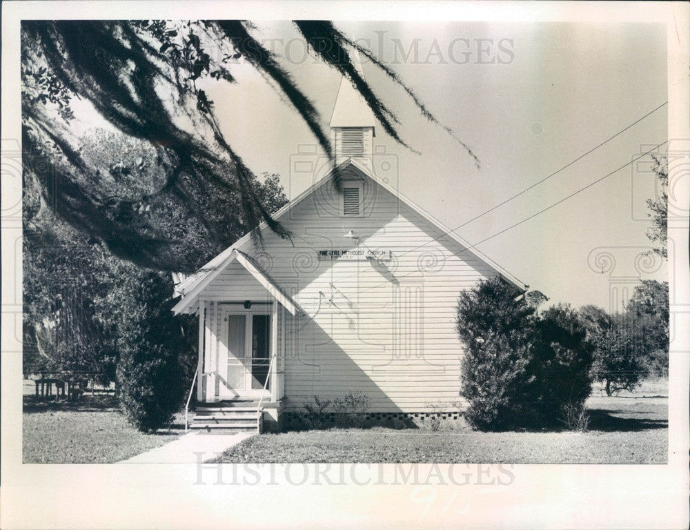 1974 Pine Level, Florida Old Methodist Church Press Photo - Historic Images