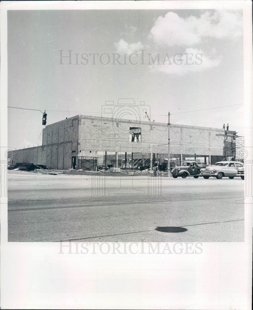 1957 St Petersburg, Florida Central Plaza, North Plaza Construction Press Photo - Historic Images