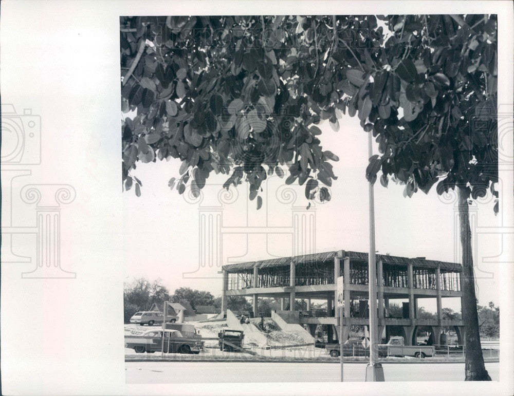1969 Bradenton, Florida City Hall Construction Press Photo - Historic Images