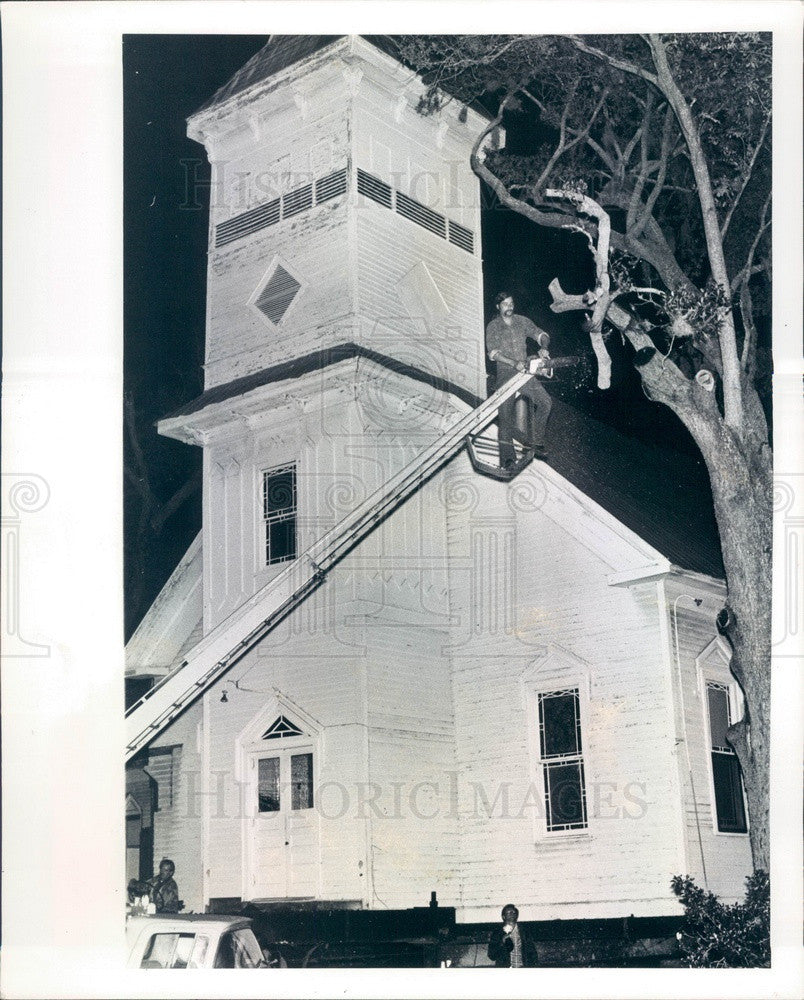 1975 Bradenton, Florida Manatee United Methodist Church Being Moved Press Photo - Historic Images