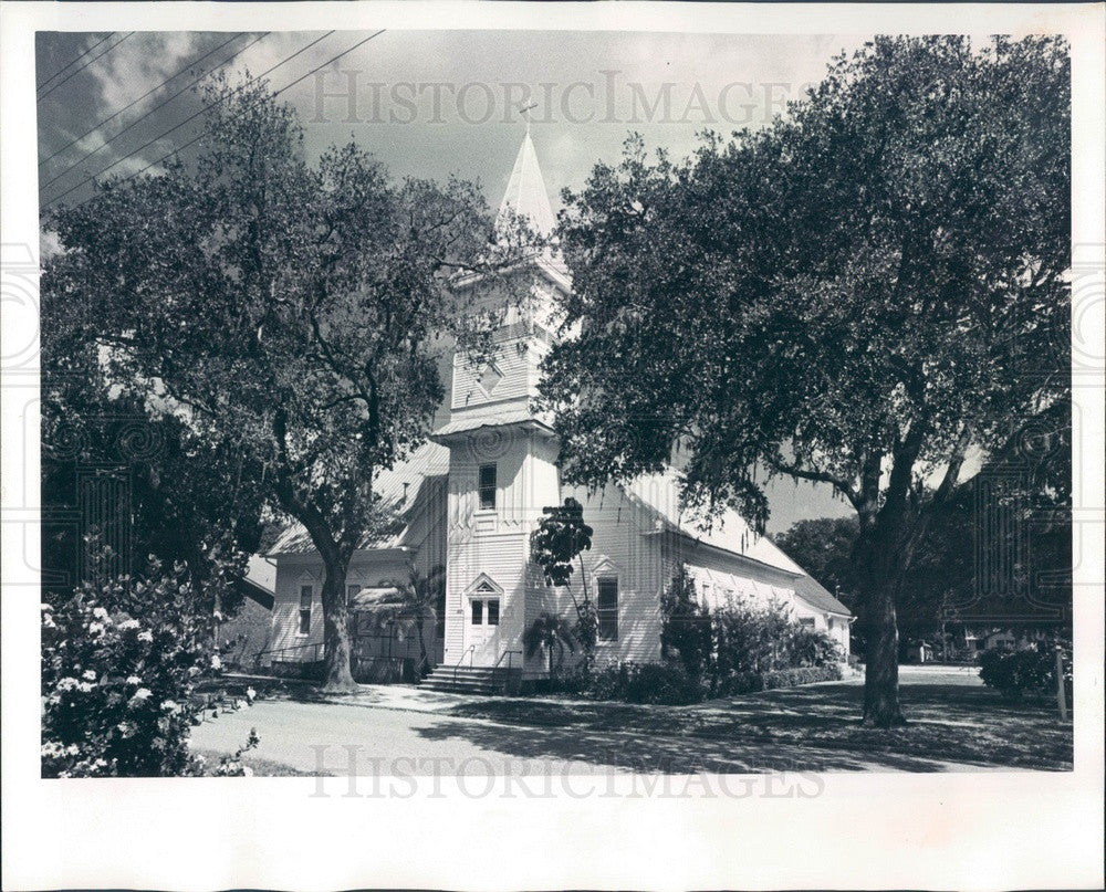 1974 Bradenton, Florida Manatee United Methodist Church Press Photo - Historic Images
