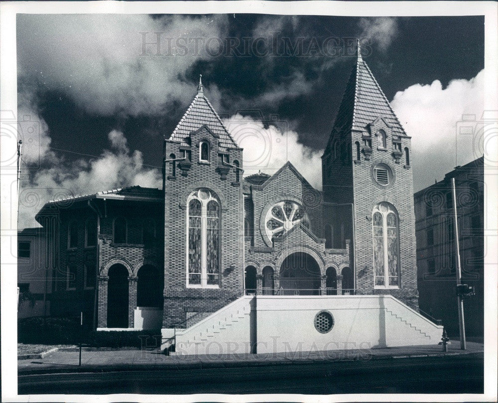 1974 Bradenton, Florida First Baptist Church Press Photo - Historic Images