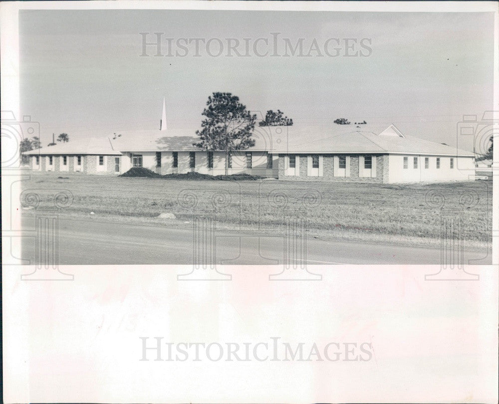 1966 Bradenton, Florida First Church of God Press Photo - Historic Images