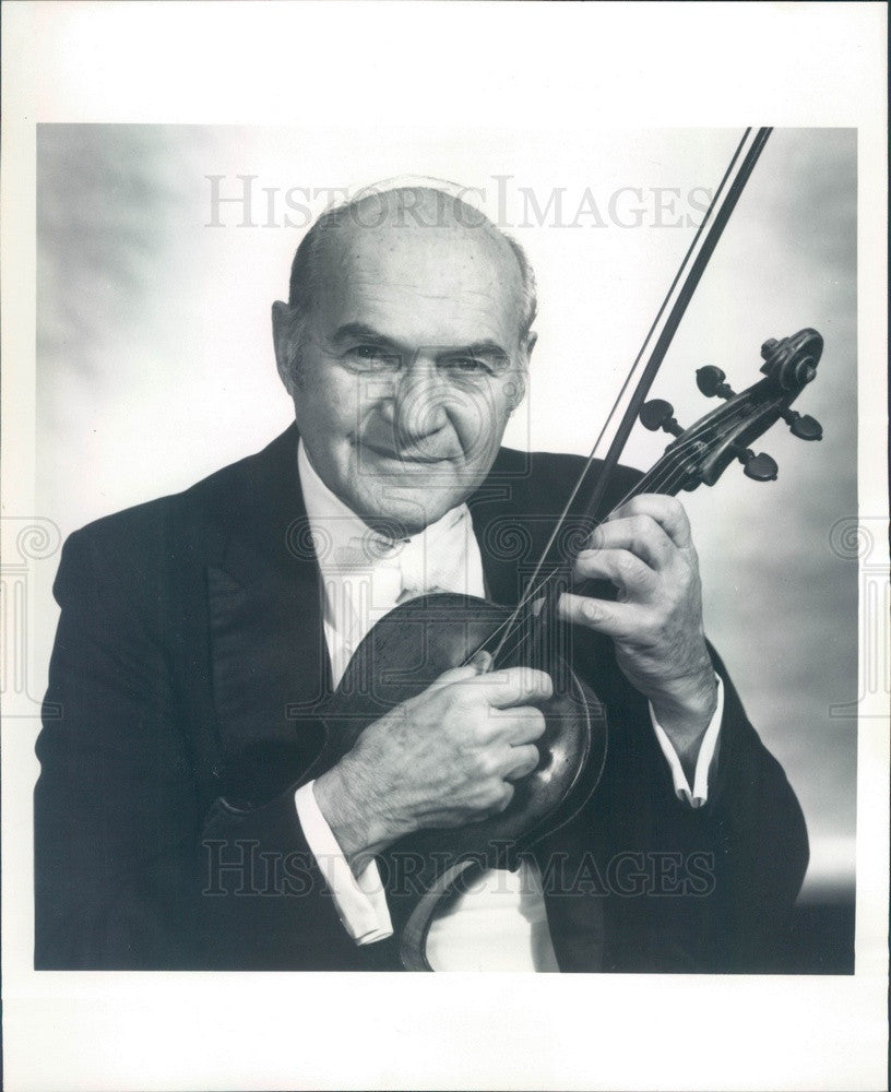 Undated Violist/Conductor Milton Preves Press Photo - Historic Images