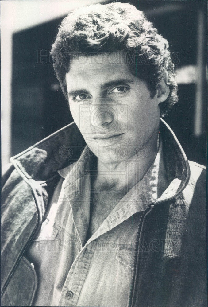 1986 American Hollywood Actor Michael Nouri TV Show Downtown Press Photo - Historic Images