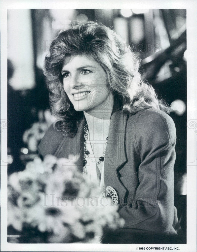 1985 American Hollywood Actress Katharine Ross TV Show Dynasty II Press Photo - Historic Images