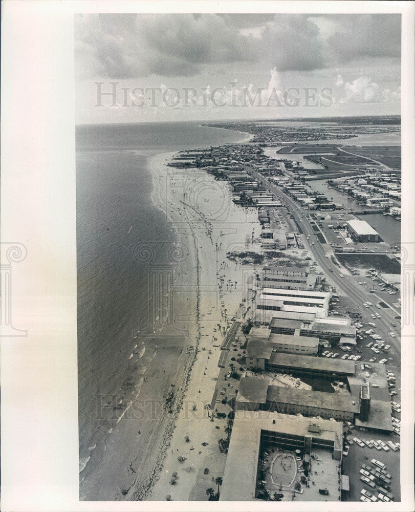 1966 St Petersburg, Florida Beach Aerial View Press Photo - Historic Images