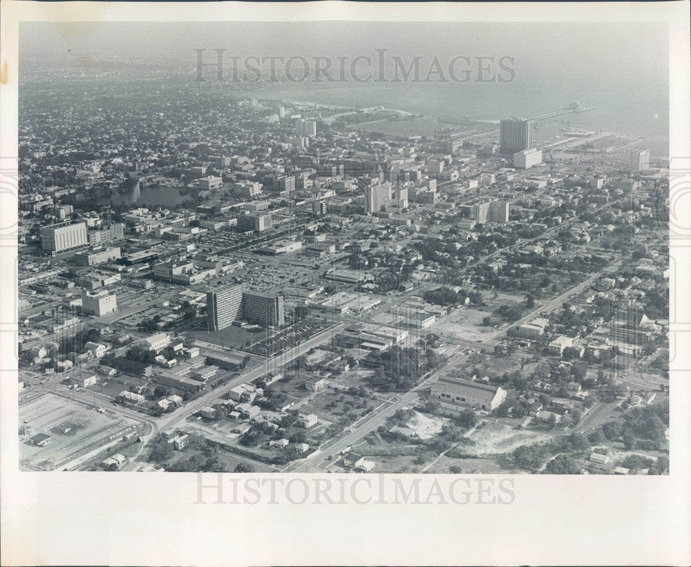 1976 St Petersburg, Florida Downtown Aerial View Press Photo - Historic Images