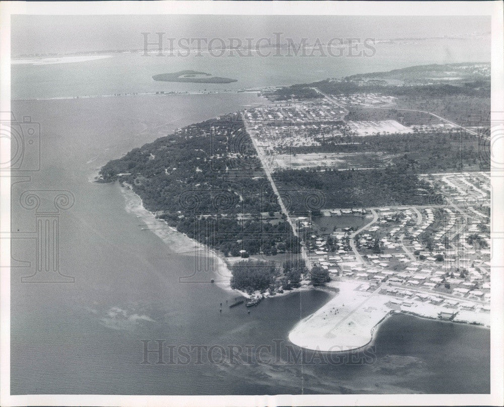 1960 St Petersburg, Florida Downtown Waterfront Aerial View Press Photo - Historic Images