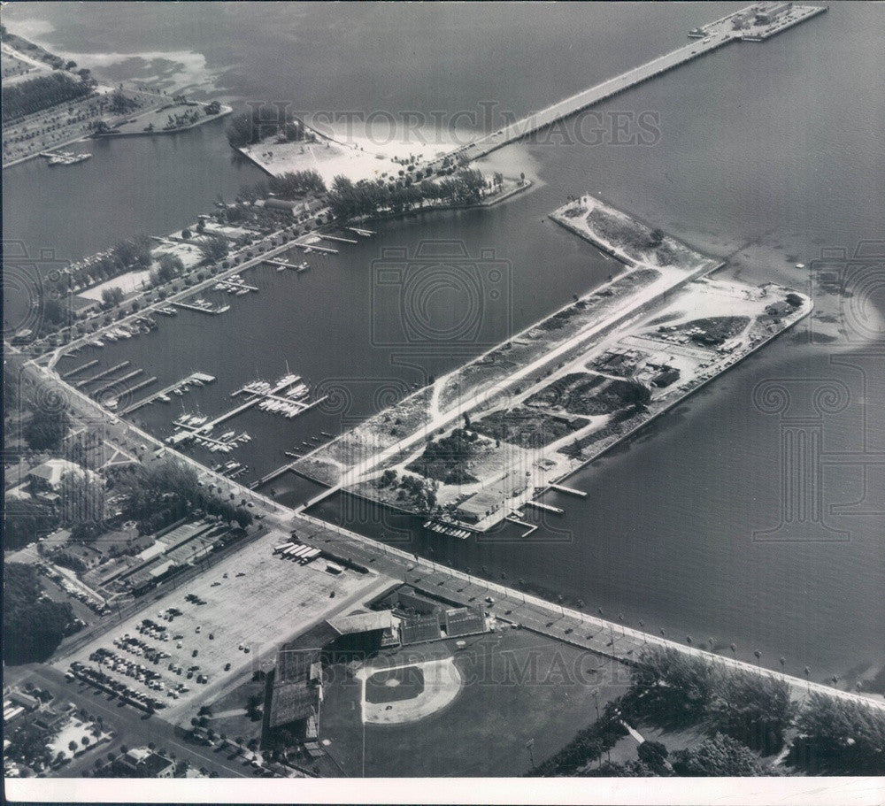 1958 St Petersburg, Florida Waterfront Aerial View Press Photo - Historic Images