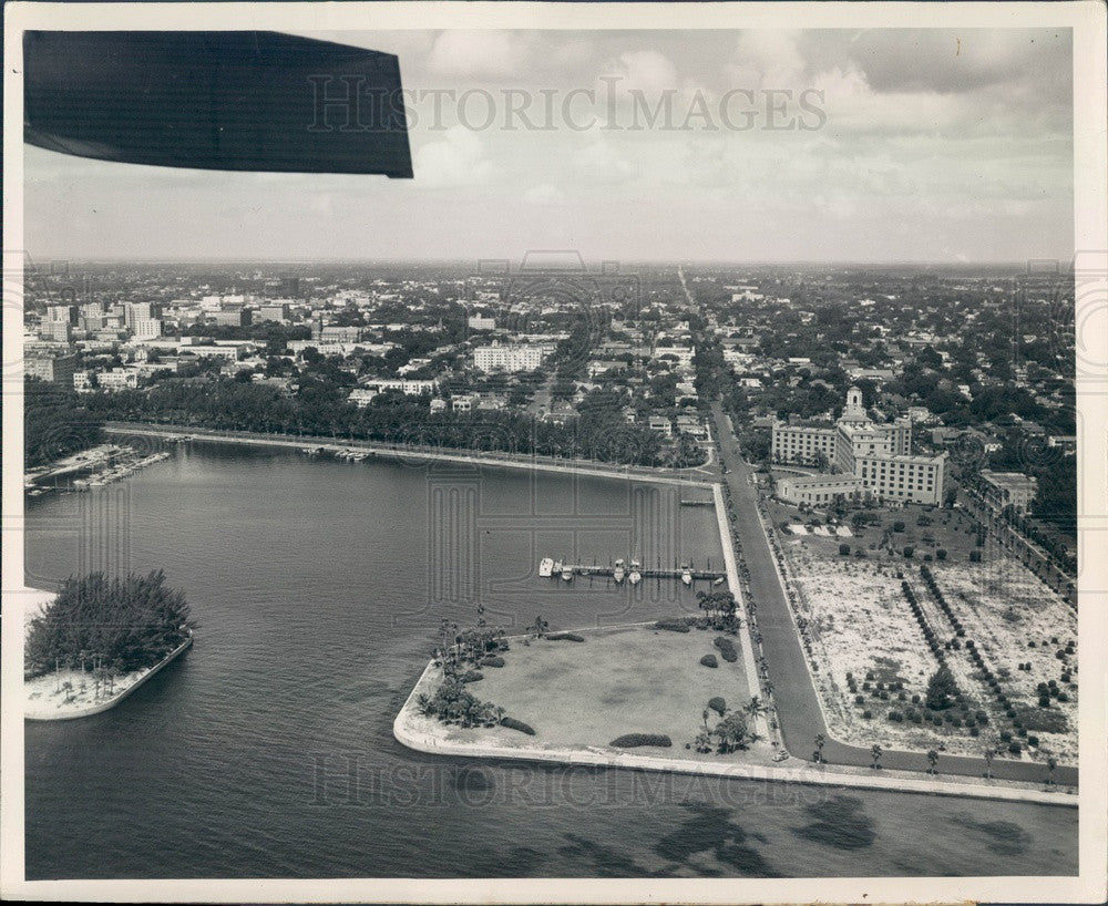 1950s St Petersburg, Florida Downtown Waterfront Aerial View Press Photo - Historic Images