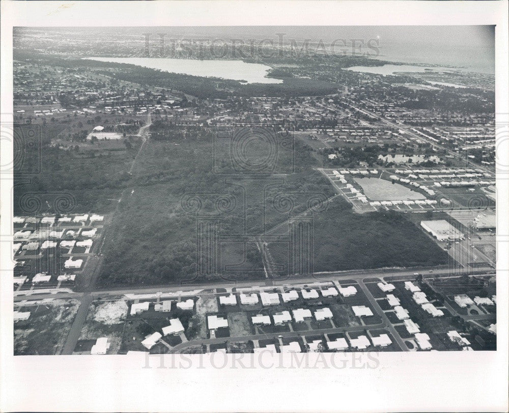 1965 St Petersburg, Florida South Side Aerial View, 58th to 62nd Ave Press Photo - Historic Images